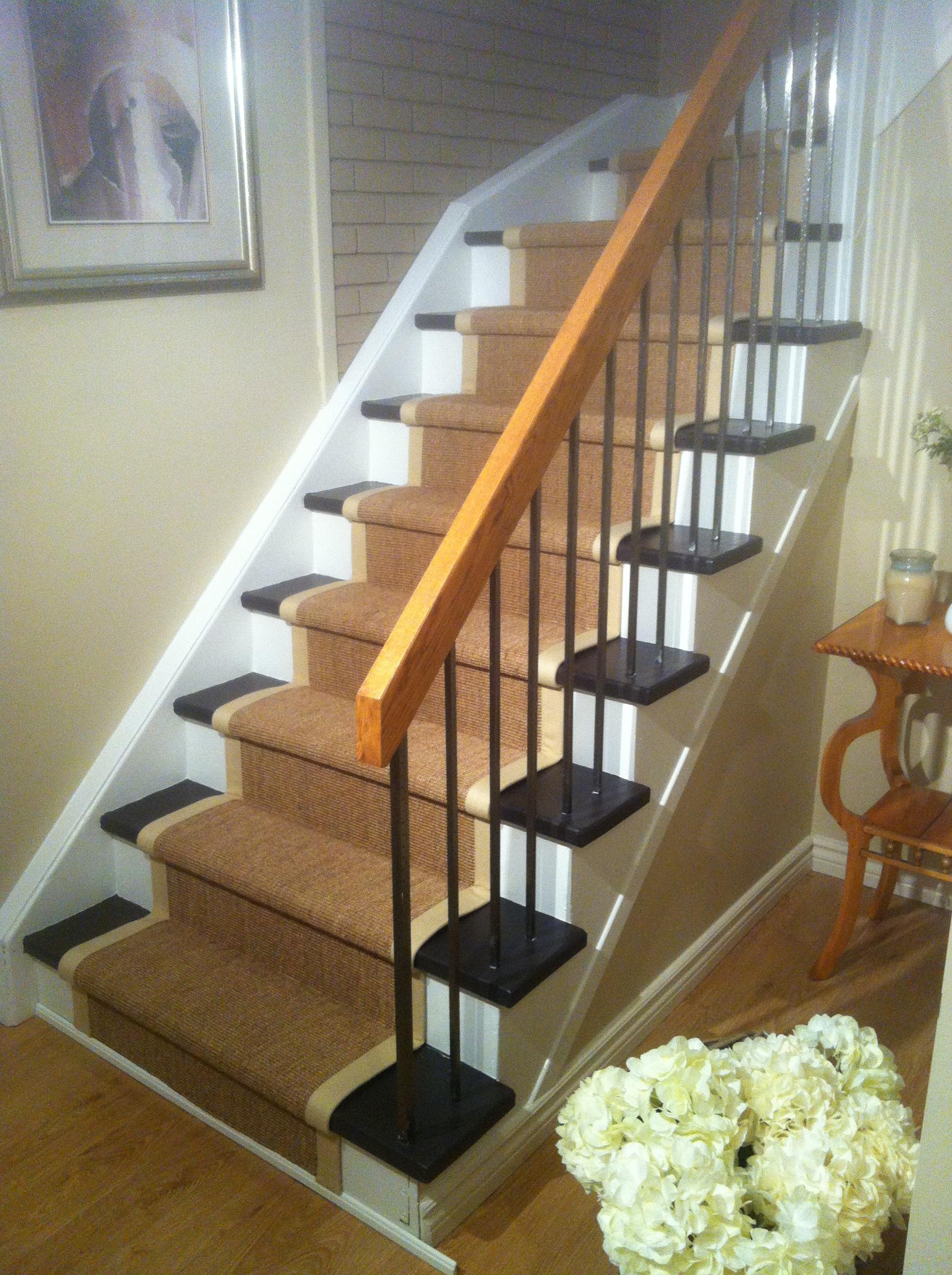 Natural Sisal Staircase Carpet Runner Toronto, Ontario, Canada