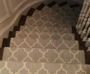Contemporary Stair Runners installation in Woodbridge, Ontario