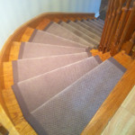 Staircase carpet runner Toronto, curve staircase in Toronto