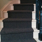 Black and White Wool Carpet Stair Runners on spiral Staircase in Toronto ideas, Wool Carpet Runner King City. carpets