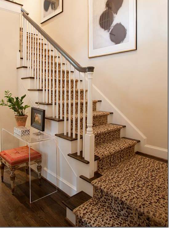 Stairs Runners Newmarket carpet stores carpet installation, Leopard print staircase runner on stairs and landing