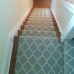 Gray Modern Carpet Runner on Stairs and Landing in Hamilton, Ontario, Canada