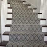 Carpeting Geometric Modern Stair Runner Gray Colour runner on stairs in Markham