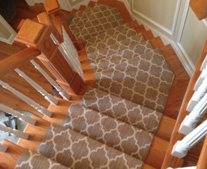 Modern Geometric Carpet Runner For Stairs in Toronto