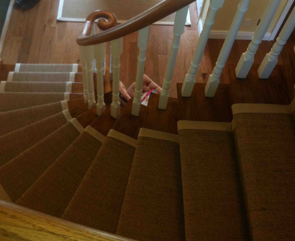 Natural sisal carpet stair runners for stairs and hallway toronto vaughan - Rugs and runners to match ...