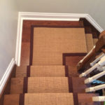 Solid Colour Natural Sisal Carpet Stair Runners on Staircase and Landing