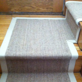 Natural Sisal Stair Runner on Stairs and landing in North York