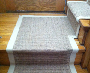 Sisal Carpet Runner on stairs and landing toronto