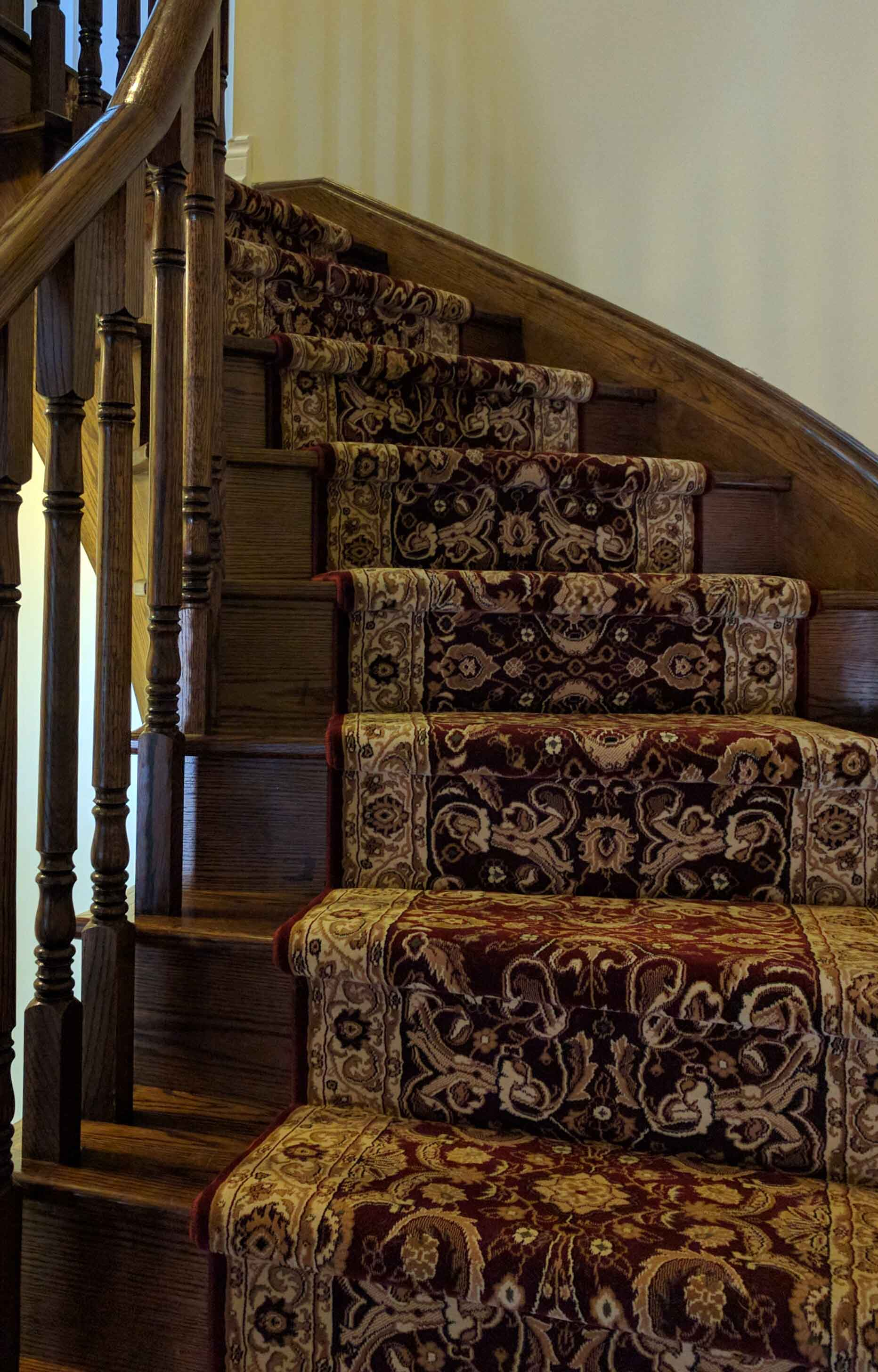 Merveilleux Persian Red Carpet Runner For Basement Staircase Carpeting Ideas And Stair  Runner Options ...
