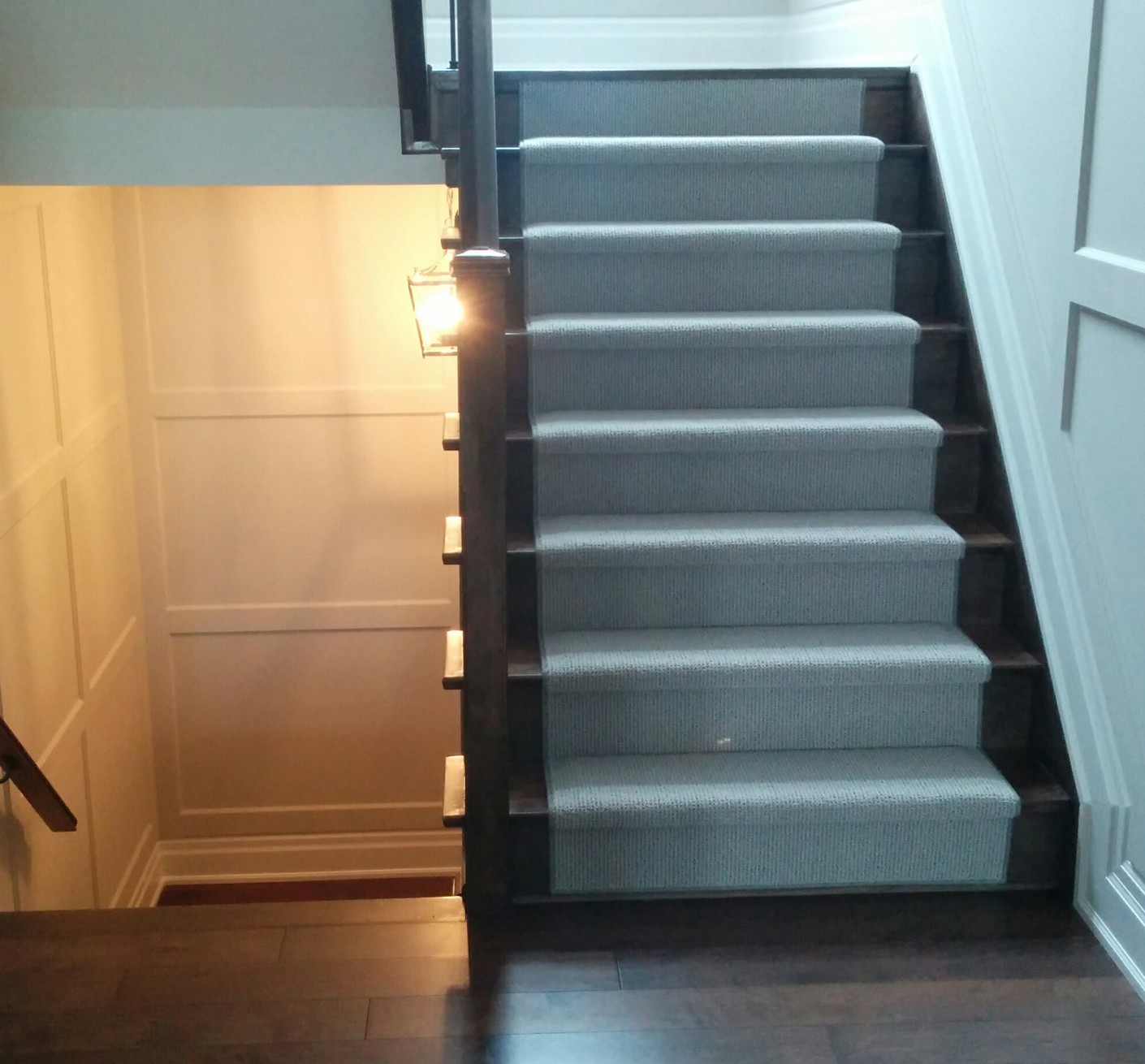 Modern Wool Carpet Runner on Stairs, Sales and Installation Services Toronto