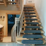 Custom Design Stair Treads Carpet Runner on Floating Staircase, Different size carpet runner in King City. Stair runners king city