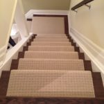 Wool Carpet Runners on Stairs and Landing self patterned carptet runner in Etobicoke