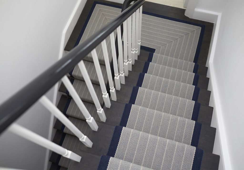 Carpet runners for staircase and landing
