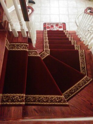 Staircase Carpeting Ideas Basement Carpet Stair Runner