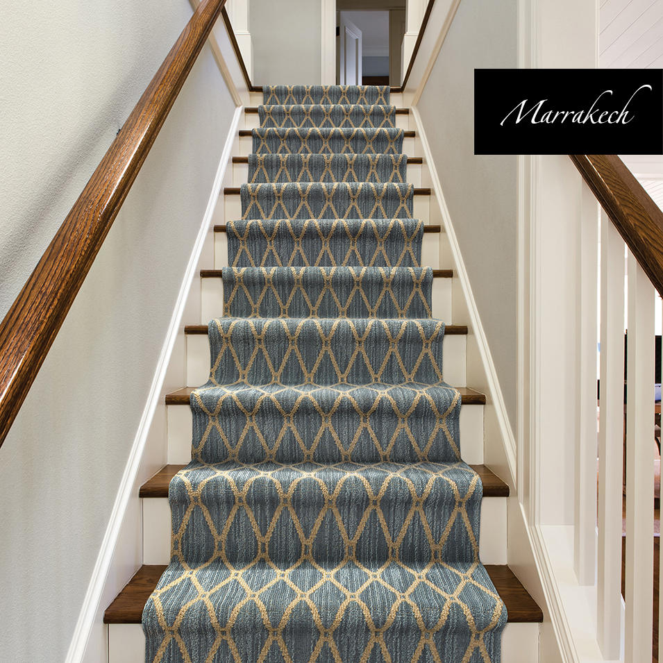 Geometric Design Stair Runner