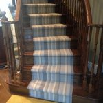 Stair runner Hamilton Carpet Stores, Installation Striped Carpet Runner for Stairs and Hall in Hamilton, Ontario, Canada