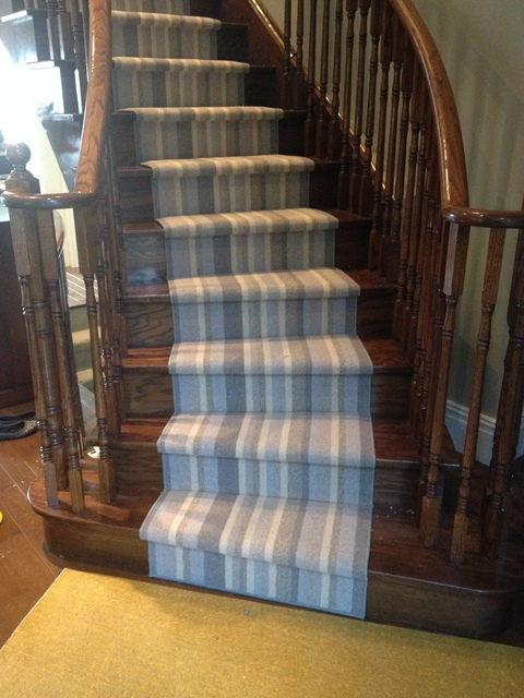 Striped Berber Carpet on Stairs in Toronto