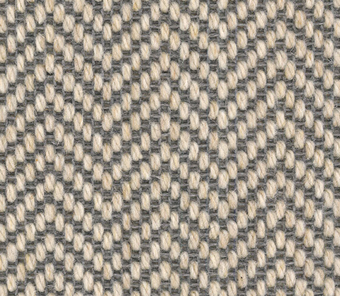 Chevron Grey Carpet Stair Runner
