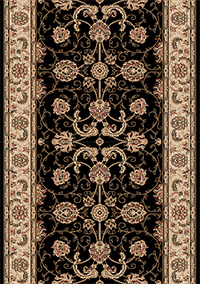 Black Persian Carpet Runner