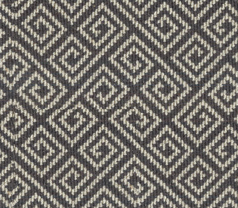 Grey Wool Carpet Geometric Design Stairs First