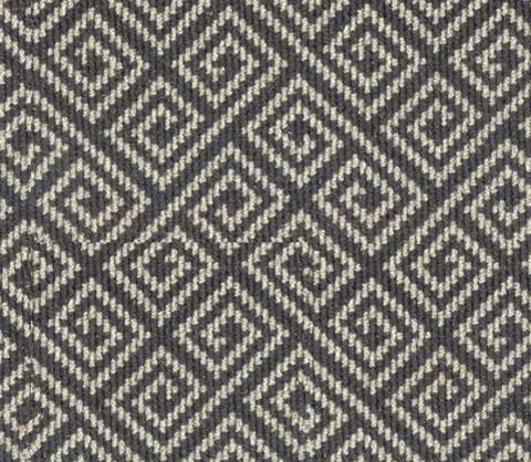 Grey Wool Carpet Geometric Design Stairs First