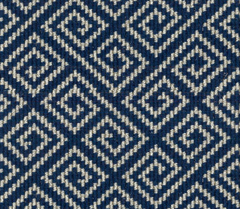 Blue Wool Carpet Runner Geometric Design Carpet Runners