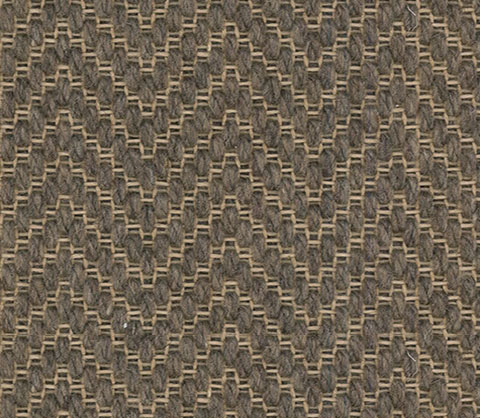 Brown Colour Herring bone Wool Carpet textured