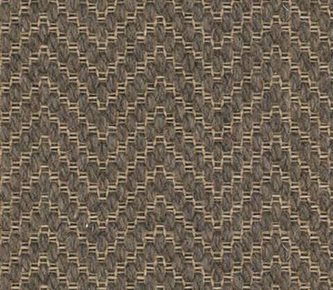 Brown Colour Herring bone Wool Carpet textured