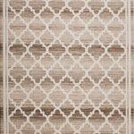 Geometric Carpet Runner Beige Brown