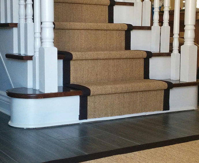 Natural Sisal Stair Runner Caledon East Ontario Canada
