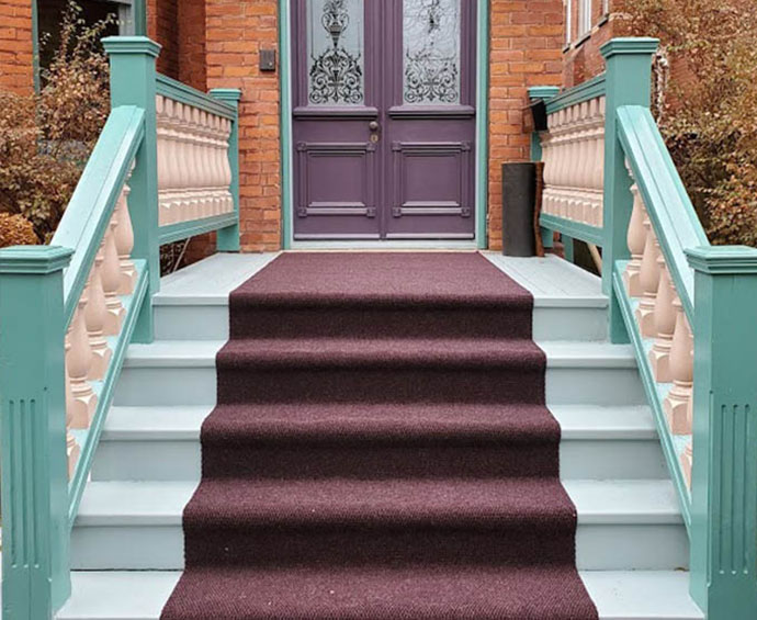 Outdoor Carpet Runner Exterior Stairs and Front Porch