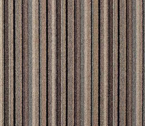 Grey Striped Carpet Runner for Stairs and Hallway