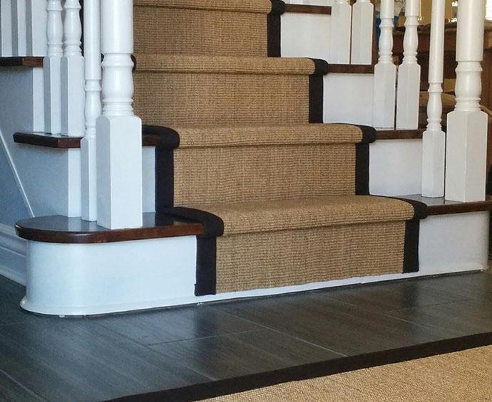 Sisal Carpet Stair Runner Woodbridge, Ontario Canada