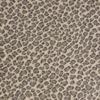 Grey Cheetah Print Carpet Stair Runner