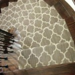 Modern Berber Carpet Runner, Stair Runner, Carpet Stair Runners Toronto, Contemporary Staircase Runner Company in Toronto, Moroccan style on curve stairs in Richmond Hill, Ontario Canada