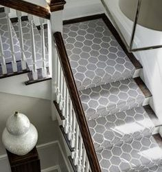Modern Wool Stair Runners custom design for stairs and landing sales and installation services in Toronto, staircase carpeting ideas and staircase runner in Toronto