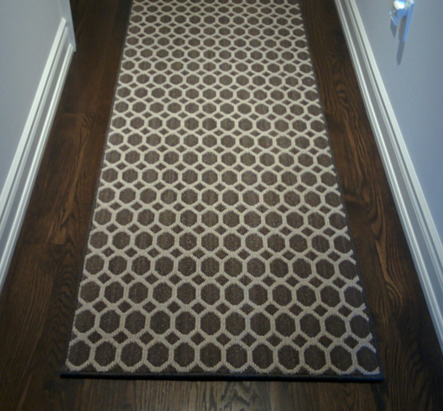 Modern, Geometric Custom Hallway Carpet Runner, Runner for Hall Contemporary Design