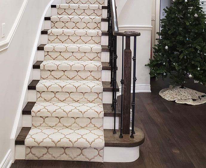 Geometric Carpet Stair Runner Woodbridge Vaughan Ontario